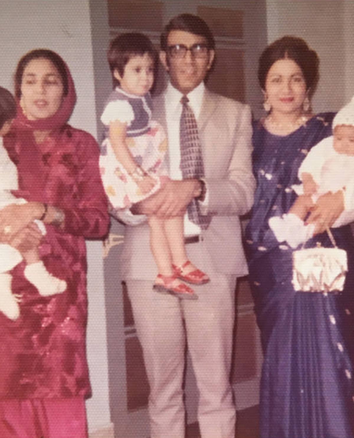 South Asian family picture from the 1970s.