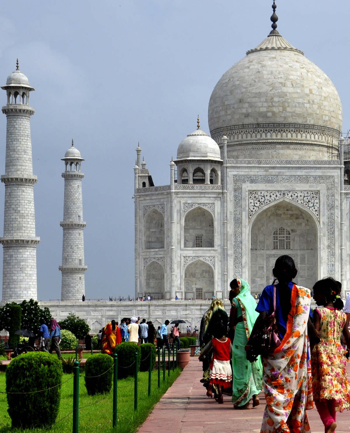 Taj Mahal visitors in Agra, India. Image for Gift Cards for Brown Man Clothing Co. desi themed t.shirts